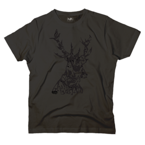 'Animals in stag' graphic black t-shirt - T-shirt - StaaG®