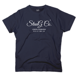 StaaG Co graphic navy t-shirt - T-shirt - StaaG®