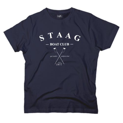 Boat club graphic navy t-shirt - T-shirt - StaaG®
