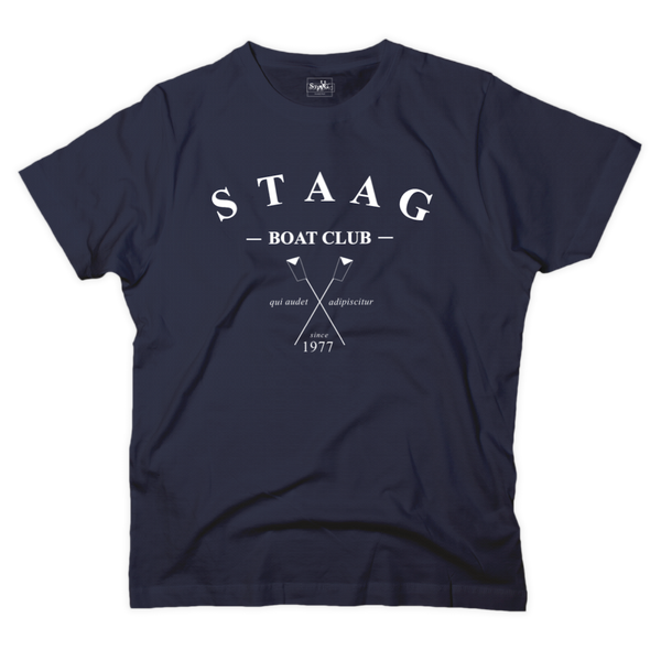 Boat club graphic navy t-shirt