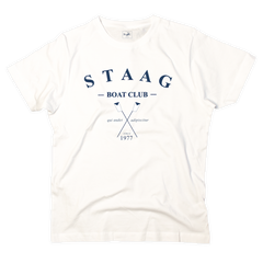 Boat club graphic white t-shirt - T-shirt - StaaG®