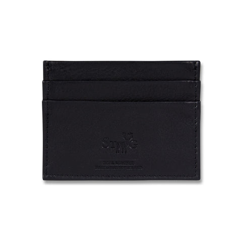 Connaught brown leather card holder