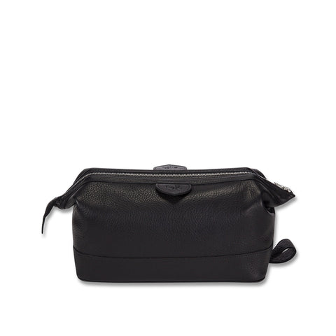 Cockburn black leather overnight bag