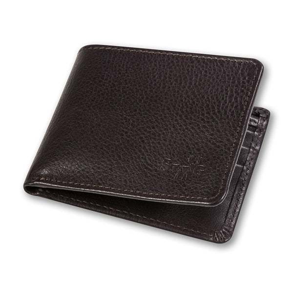 Connaught brown leather wallet