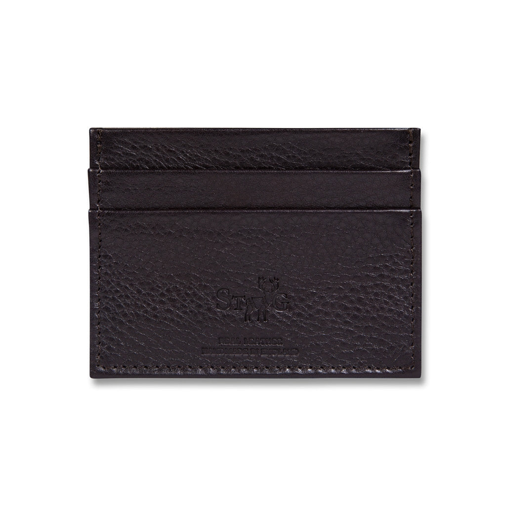 Connaught brown leather card holder - Leather card holder - StaaG®