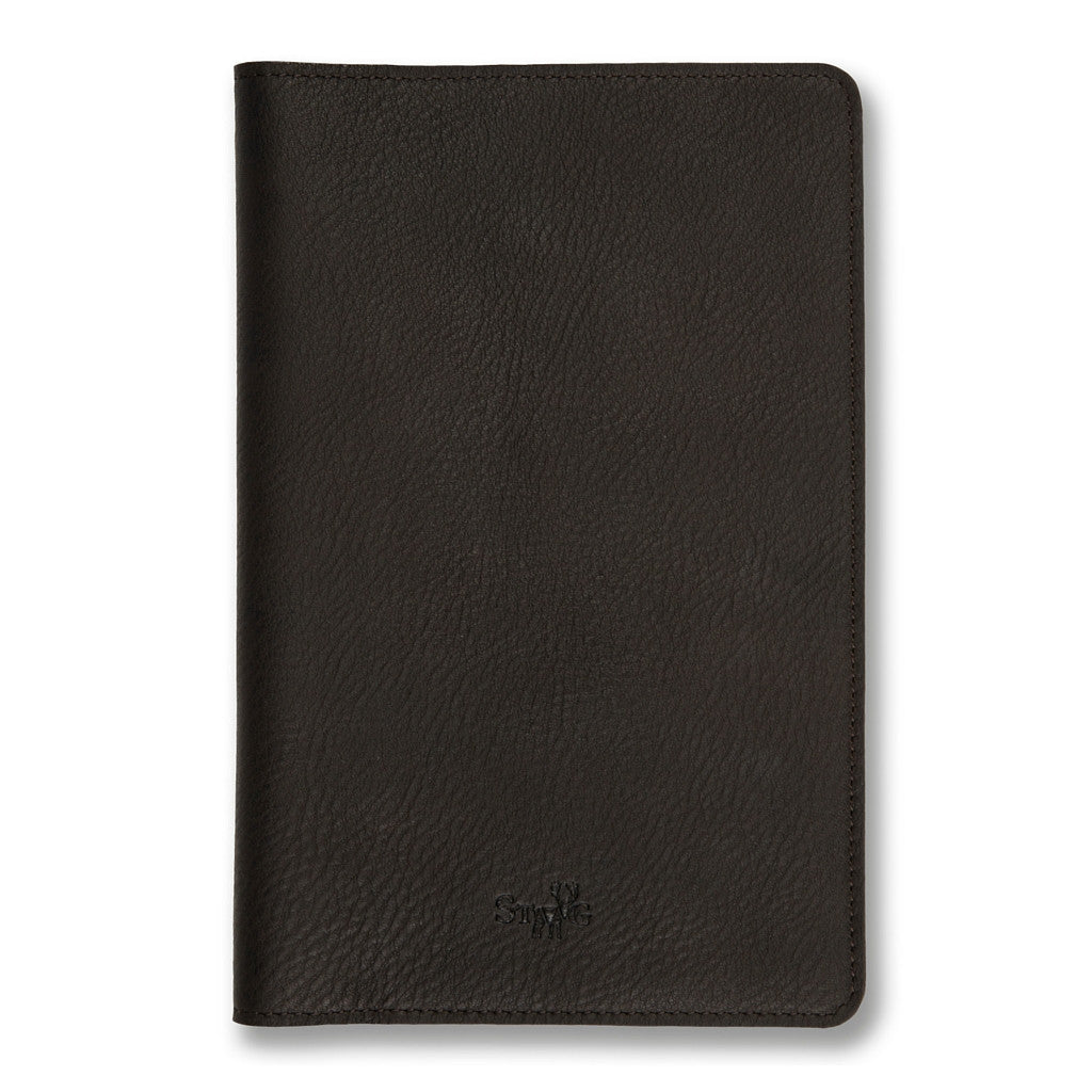 Connaught brown leather notebook cover - Leather notebook cover - StaaG® - 1