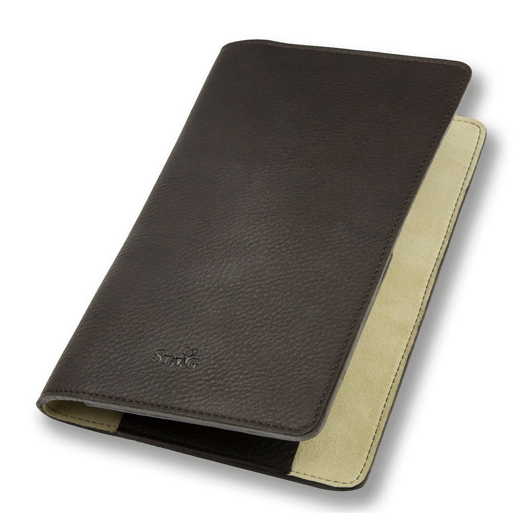 Connaught brown leather notebook cover - Leather notebook cover - StaaG® - 2