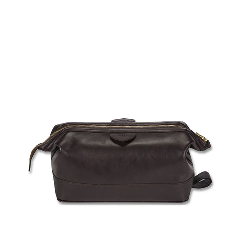 Connaught brown leather overnight bag
