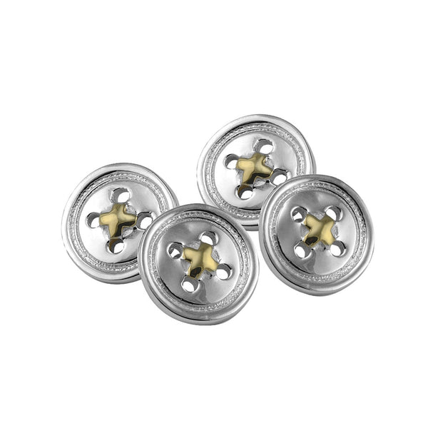 Sterling silver button cufflinks - Cufflinks - StaaG®