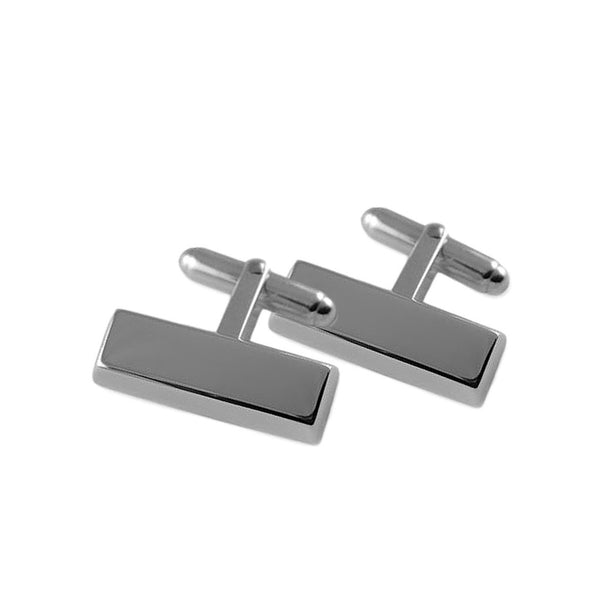 Sterling silver ingot bar cufflinks