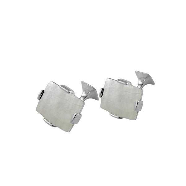 Sterling silver mother of pearl cufflinks