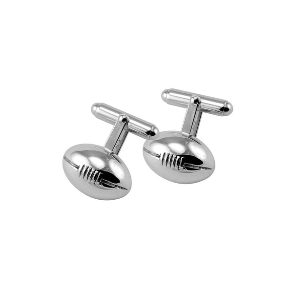 Sterling silver rugby ball cufflinks - Cufflinks - StaaG®