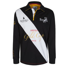 Arena Gold Cup black, white and gold long sleeve polo shirt - Polo shirt - StaaG® - 1