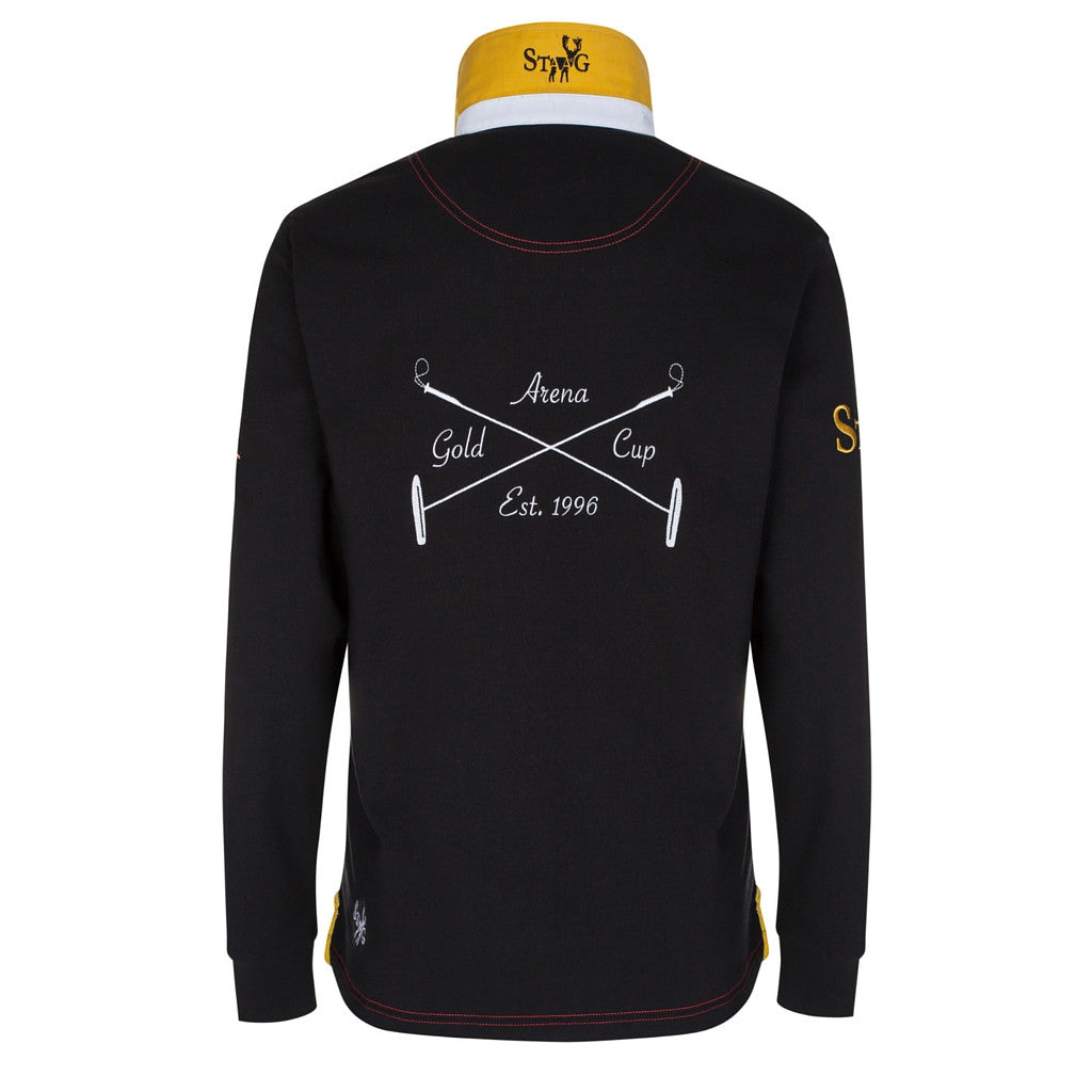 Arena Gold Cup black, white and gold long sleeve polo shirt - Polo shirt - StaaG® - 2