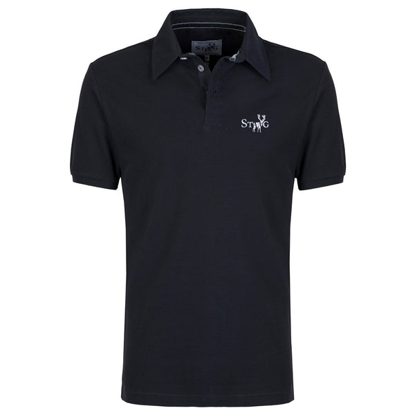 Classic charcoal polo shirt