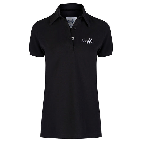 Classic black polo shirt (ladies)