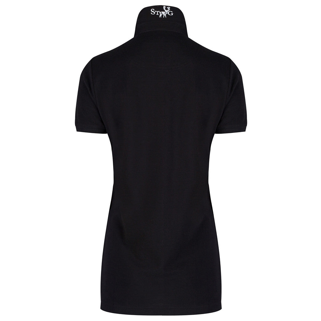 Classic black polo shirt (ladies) - Polo shirt - StaaG® - 2