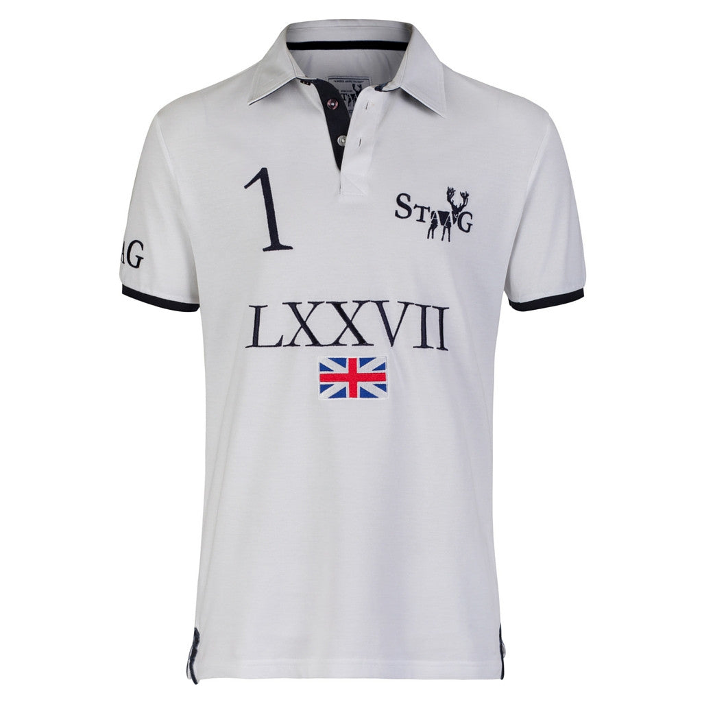 LXXVII Britain white polo shirt - Polo shirt - StaaG® - 1