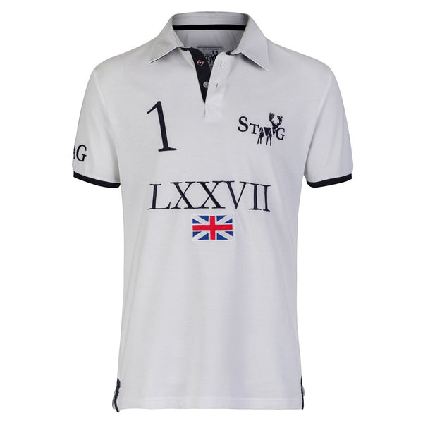 LXXVII Britain white polo shirt