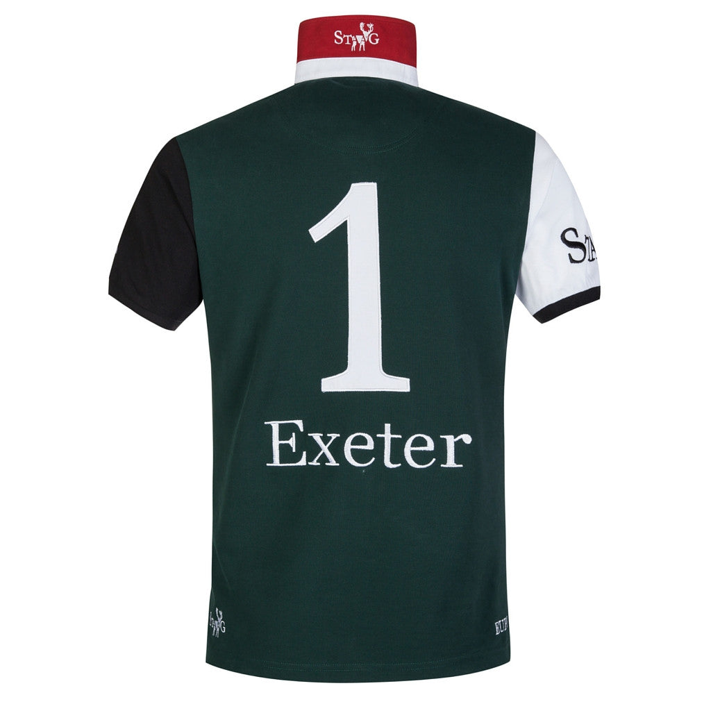 Exeter custom-fit green and white polo shirt - Polo shirt - StaaG® - 2