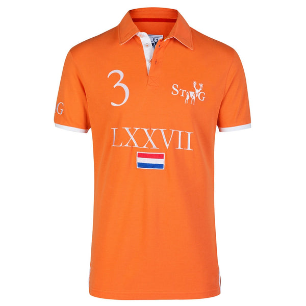 LXXVII NL orange polo shirt