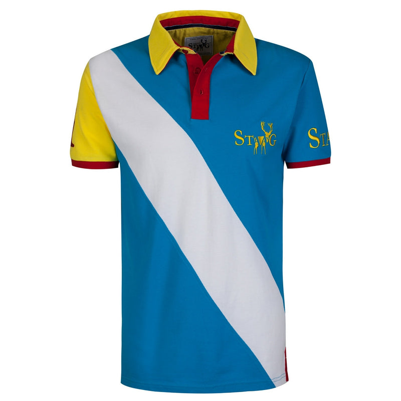 Skye blue and white polo shirt - Polo shirt - StaaG® - 1