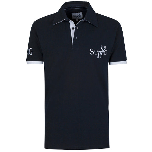Weekend navy and white polo shirt - Polo shirt - StaaG® - 1