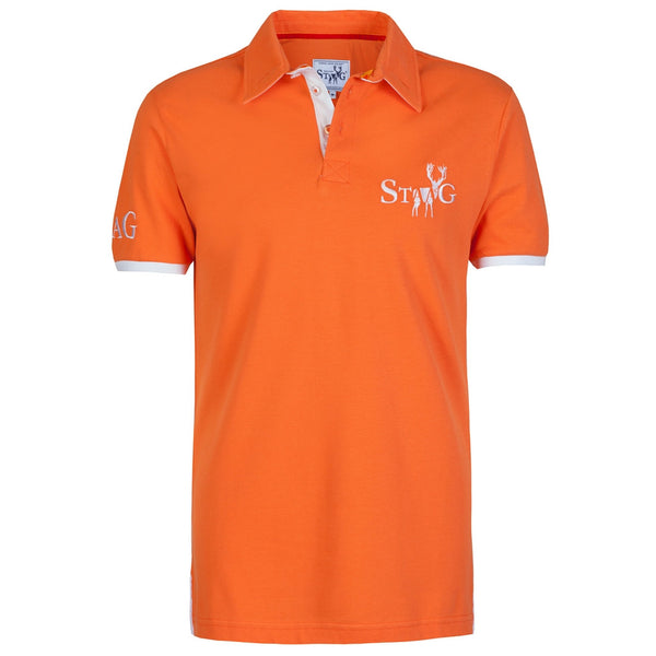 Weekend orange and white polo shirt