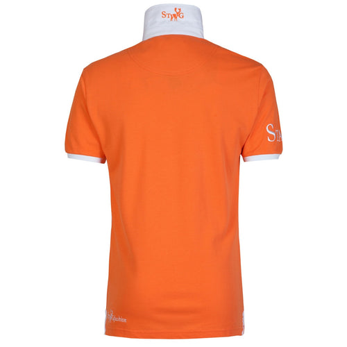 Weekend orange and white polo shirt - Polo shirt - StaaG® - 2