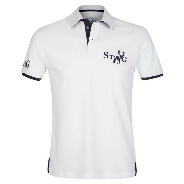 Weekend white and navy polo shirt