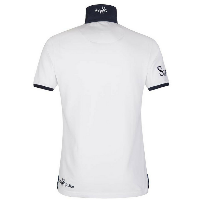 Weekend white and navy polo shirt - Polo shirt - StaaG® - 2