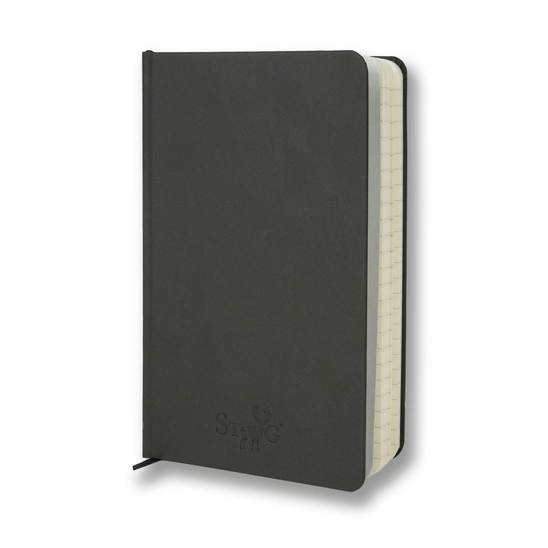 Grey soft touch lined notebook - Notebook - StaaG® - 3