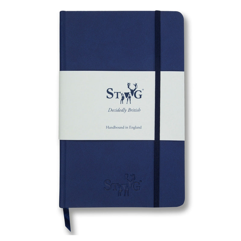 Navy soft touch plain notebook - Notebook - StaaG® - 1