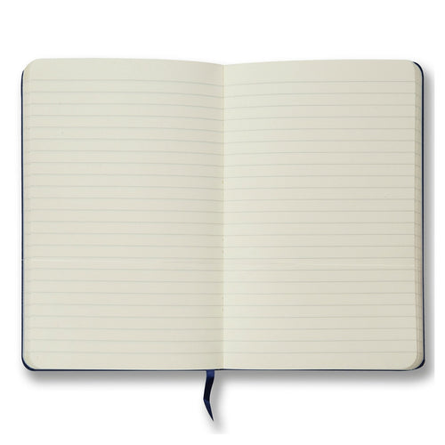 Navy soft touch lined notebook - Notebook - StaaG® - 2
