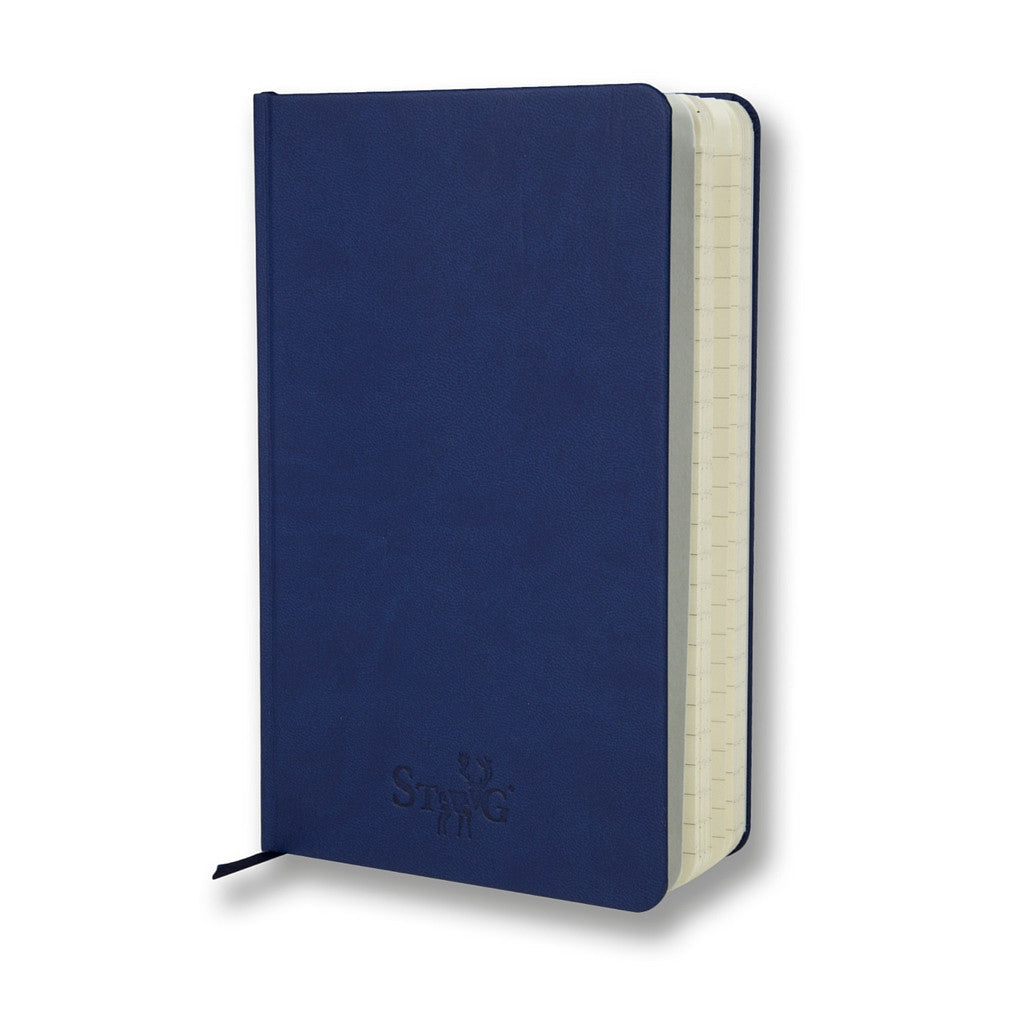 Navy soft touch lined notebook - Notebook - StaaG® - 3