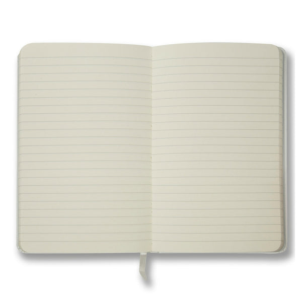 White soft touch lined notebook - Notebook - StaaG® - 2