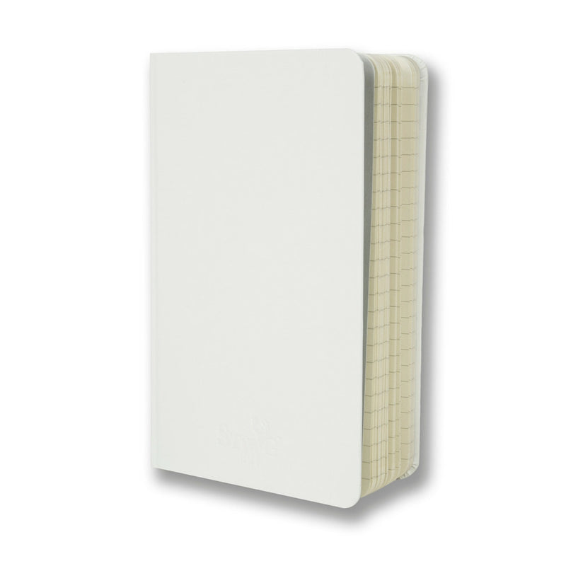 White soft touch lined notebook - Notebook - StaaG® - 3
