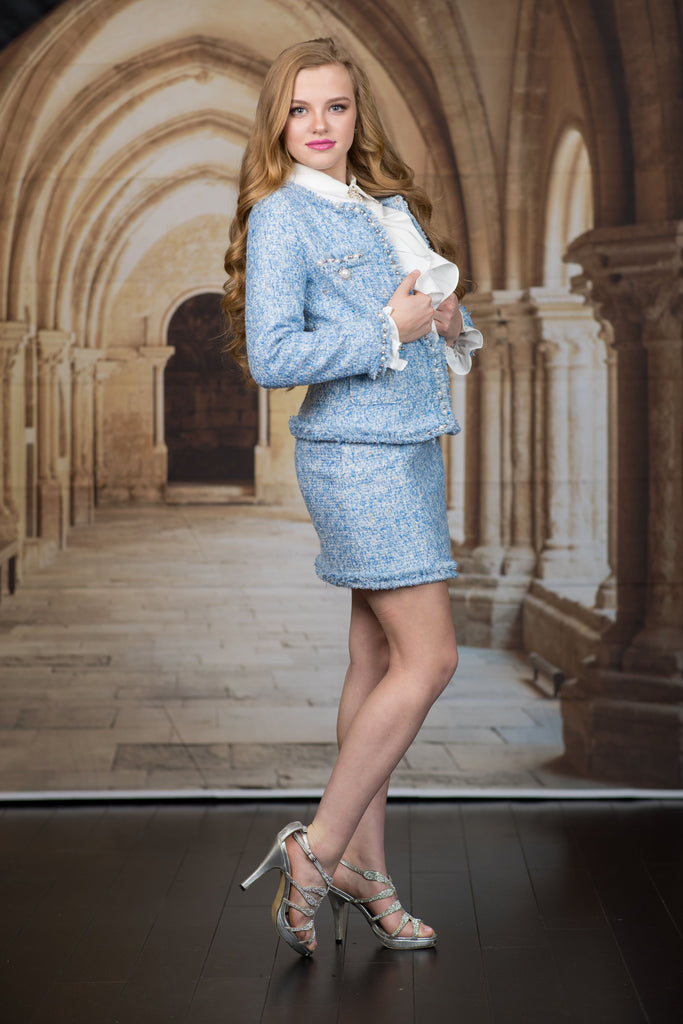 Blue Pearl 2 Piece Suit