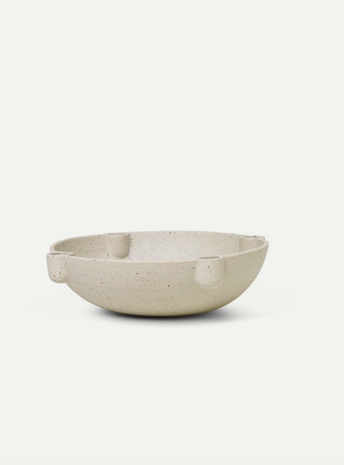 Bowl Candle Holde Large - Ceramic
