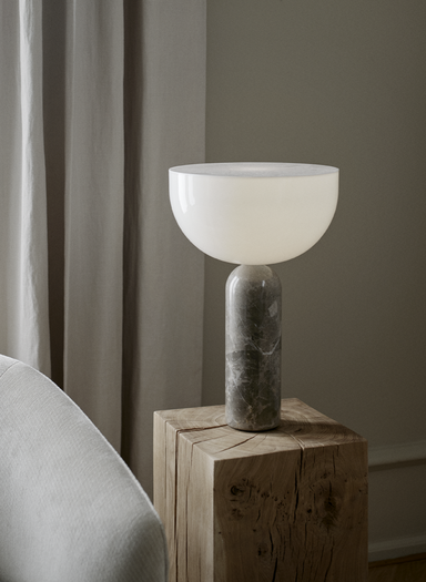 Kizu Table Lamp - Gris du Marais Marble, Large