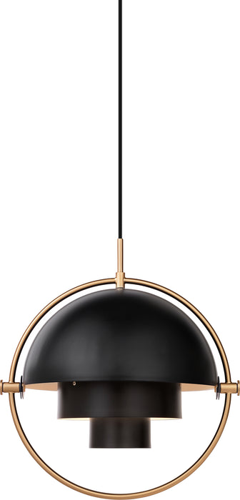 Multi-Lite Brass-Charcoal Black