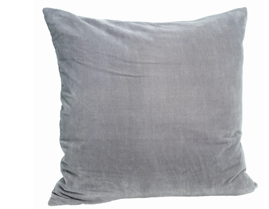 Velvet Cushion Cover Light Grey