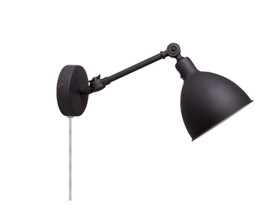 Bazar Mini Vegglampe, Sort