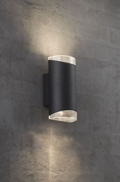 Arn Vegglampe Duo, Sort
