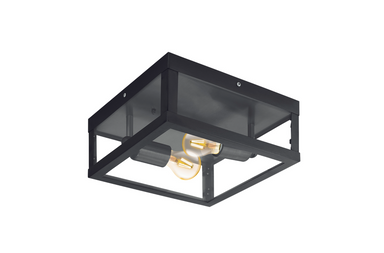 Alamonte takplafond IP44, Sort