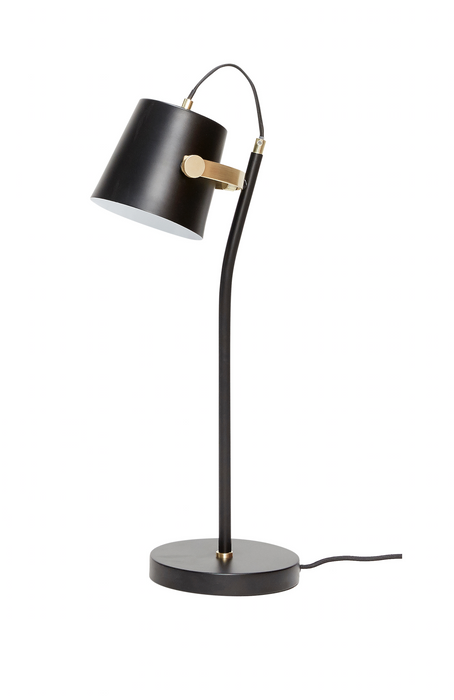 Bordlampe sort-messing