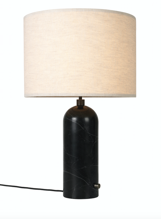 Gravity Bordlampe, Stor sort-canvas