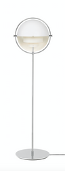Multi-Lite Floorlamp, Chrome-White