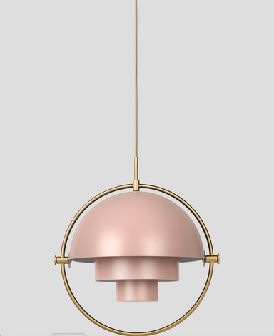 Multi-Lite Rose Dust-Brass