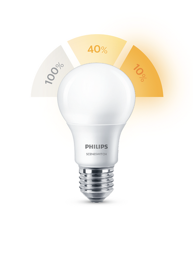 3-Step Philips Innebygget Dimming